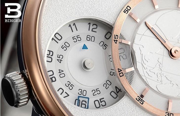 Бренд Военной Royale мужская Армии Стиль Часы Металл Серебро Золото Циферблат Кожаный Ремешок Швейцария Бингер GMT Часы Карта Наручные Часы