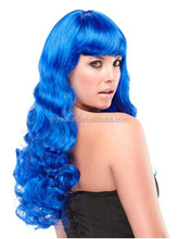 Fashion style Blue Synthetic Wig For Woman