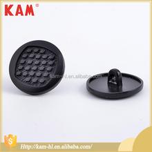 New design colored black metal shank fur coat snap fastener