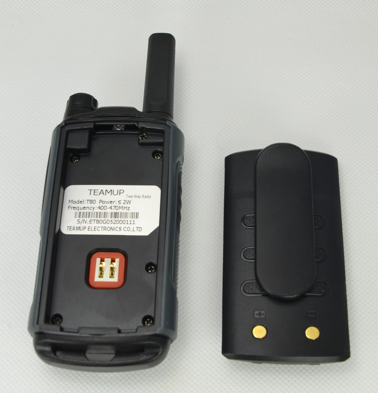 Teamup mini 1-5 km gama conversa mais barato uhf 2 watts walkie talkie