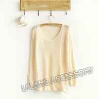 мода женщин t рубашки повседневные кардиган свитер женщин конфеты цвета пуловеры новой розничной трикотаж марки женщин свитер 851479