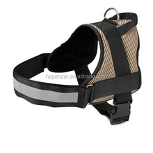 Durable dog harness with reflective band best hot sex pet with dog pet harness gold