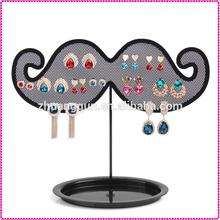 De la barba de Metal gridding de exhibición del pendiente titular negro, Bandejas de joyas exhibiciones de la joyería
