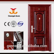 Mejor precio 0.5 / 0.6 / 0.7 / 0.8 mm exterior de acero segura puerta