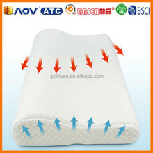 Hot comfortable Children PU slow recovery protection bamboo pillow shredded memory foam