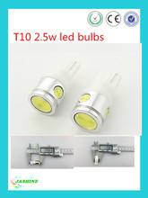 super bright car led auto bulb t10 2.5w led/T10 w5w led light t10 lamp for car