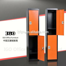 2 Doors Tall Thin Steel Clothes Locker with Hanging Rods