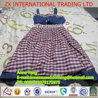 2015 latest fashion used clothes lady cotton dress