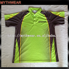 Sublimation fluorescent custom dry fit unbrand polo shirts