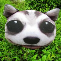 Honey promotional kids animal dog shape printing furry zipper coin purse/pouch
