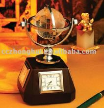 Fashion crystal globe clock with black base