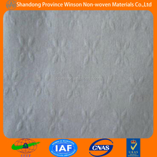 wet wipes material PET spunlace non woven cleaning cloth(own factory)