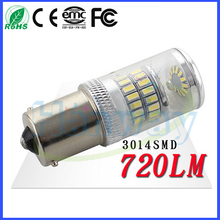 720LM 3014 smd led Auto S25 1156 Car LED Light Decoder Light 48 SMD 6000k 12v 24v