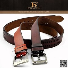 OEM cowhide leather fashion real high performance brown belt