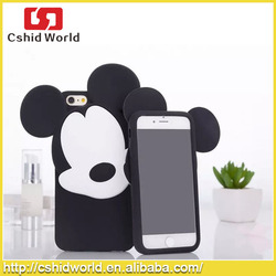 Cute 3D Animal Mickey Silicone Rubber Case For iPhone 5