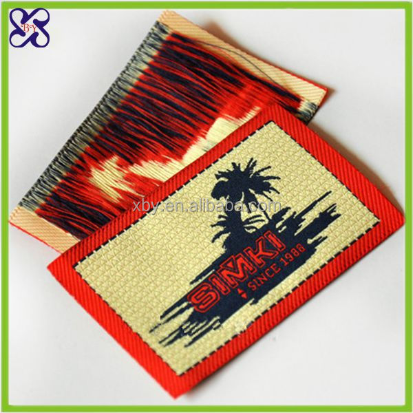 wholesale woven garment lable/Fashion woven label design