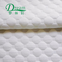 Alibaba china air filled white plaid jacquard mattress cloth/fabric for home textile