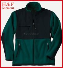 Fleece chest pocket micro polar fleece jacket wind stop jacket