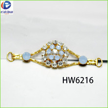 HW6216 renqing shoe collection diamante high heel clear polymer shoes milky blue jewel