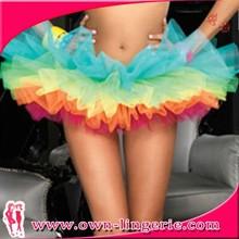 New design colorful girls elegant short tutu skirt