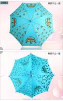 EVA snow transparent full printing pvc kids umbrellas