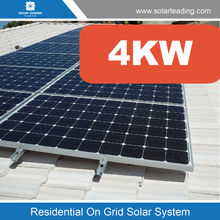 New generation 4000w solar system price include poly crystalline solar panels also called grid tie solar power system