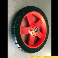 "colorful 6 spokes small wheel Solid Pu Rubber Wheel 7""x1.25"""