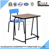 2014 Hot Sale Cheap High School Furniture Wood Top Student Desk and Chair Set