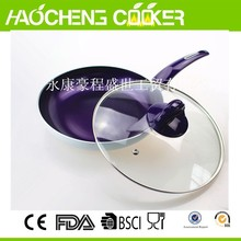 high quality aluminum TV show colorful cooking ceramic fry pan with induction bottom