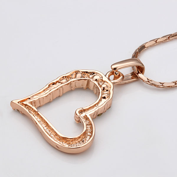 2014 new heart pendant gold jewellery necklace latest model fashion lkn18krgpn00504g aloadofball Images