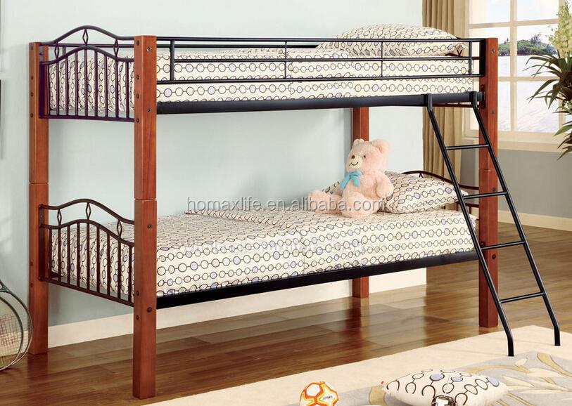 chambre meubles m tal s parable lit superpos avec des jambes de bois lit en m tal id de produit. Black Bedroom Furniture Sets. Home Design Ideas