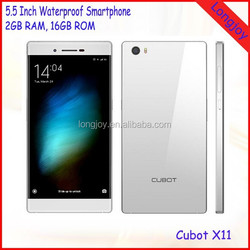 "Utral Slim Android Cell Phone Cubot X11 5.5"" HD Screen MTK6592 Octa Core 2GB RAM 16GB ROM 3G Smart Phone"