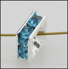 2012 Cheap Square Spacer Loose Rhinestone Beads 110055