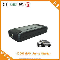 ce fcc rohs certification 12000mah 12V 400A fcc certification car battery booster for car cycle life 1000 times
