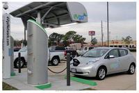 Electric Car EV Public Fast Charging Station