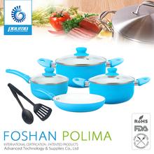 2015 hot sale ceramic aluminum die cast hot sale cookware with detachable handle