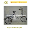 """Silver Front 20"""" Rear 18"""" Wheels Adult Electric Cargo Tricycle SH-T039"""