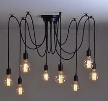 8 arms Edison filament bulbs lamp holder pendant lamps
