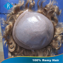 Directly Factory Price 100% Remy Human Hair super thin skin toupee
