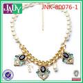 collar de fantasía diseños de joyas de oro plateado collar de coral