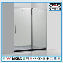 African 5mm Glass bathroom shower stainless steel partition /screen