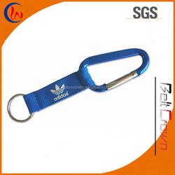 Custom Polyester Short Carabiner Lanyard,Custom Carabiner Strap, Carabiner Band