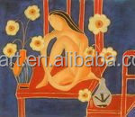 abstract nude woman oil painting