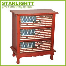 High quality reclaimed drawer chest with Union Jack prints