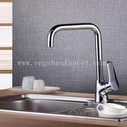 Luxury chrome contemporary single handle mixer taps kitchen