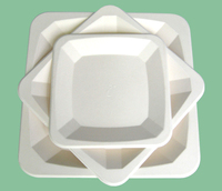 different shapes dinner plates / square shape dinner plates / Disposable paper square plate