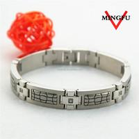 Mingfu fashion 316L SS heavy bracelet myanmar jewellery