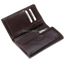 WL234 genuine men's travel leather wallet/purse