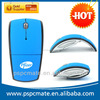 2.4ghz usb wireless mouse folding arc mouse wireless foldable mouse with customized logo and mini usb receiver for Mac Laptop