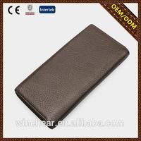 New arrival fashion Brown branded leather purses and wallets with high quality